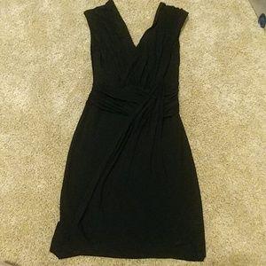 NWT Bailey 44 black waterfall dress Bloomingdales